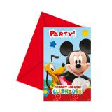 "6 cartons d'invitation ""Mickey et ses amis"""