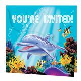 """8 cartons d'invitation """"La mer en fête"""""""