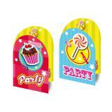 "Invitations ""Party"" avec enveloppes 8 pcs"