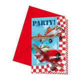 "6 cartons d'invitation ""Planes"""