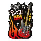 """Cartons d'invitation """"Rock Party"""" 32 pcs."""