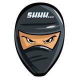 """8 cartons d'invitation """"Rapide comme un ninja"""" avec enveloppe"""