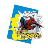 "6 cartons d'invitation ""Spider-Man Comic Style"" avec enveloppes"