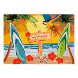 "6 cartons d´invitation ""Beach Party"""