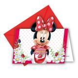 "6 cartons d'invitation ""Adorable Minnie Mouse"""