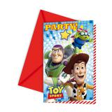 "6 cartons d'invitation ""Toy Story"""