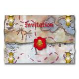 "8 cartons d'invitation ""Pirates sauvages"" avec enveloppes"