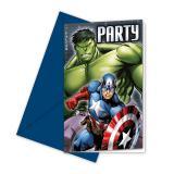 "6 cartons d'invitation ""Avengers Assemble"" avec enveloppes"