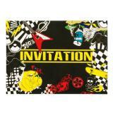 "6 cartons d'invitation ""Party-Zone"""