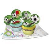 """Disques comestibles pour muffins """"Foot"""" 12 pcs"""