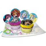 "Disques comestibles pour muffins ""Monster High"" 12 pcs"