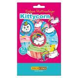 "12 déco pour muffins ""Kittycorn"""