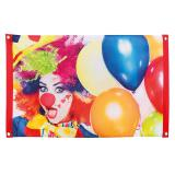 """Bannière """"Clown coloré"""" 90 x 60 cm"""