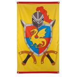 """Drapeau """"Tournoi de chevaliers"""" 150 cm"""