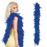 Boa à plumes 180 cm- bleu