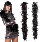 """Boa de plumes """"Glamour"""" noir 180 cm"""