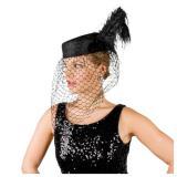 """Chapeau en feutre """"Veuve noire"""""""