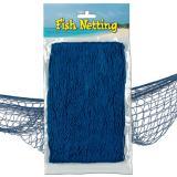 Filet de pêche décoratif 370 cm  x 120 cm - bleu