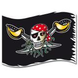 """Drapeau """"Pirates sauvages"""" 90 x 60 cm"""