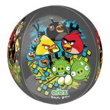 """Ballon en alu """"Angry Birds - noir"""" 40 cm"""