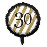 "Ballon en alu ""Black & Gold 30"" 46 cm"