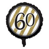 "Ballon en alu ""Black & Gold 60"" 46 cm"