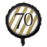 "Ballon en alu ""Black & Gold 70"" 46 cm"