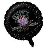 """Ballon en alu """"Craies colorées"""" Happy Birthday 45,7 cm"""