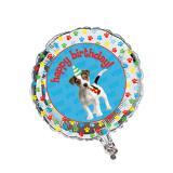 "Ballon en alu ""Happy Birthday Dog"" 45 cm"