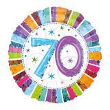 """Ballon en alu """"Hologramme - 70 ans"""" 45 cm"""
