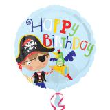 "Ballon en alu ""Petit pirate courageux"" 43 cm"