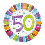 """Ballon en alu """"50 ans"""" 45 cm"""
