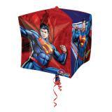 "Ballon en aluminium ""Le vrai Superman"" 38 x 38 cm"