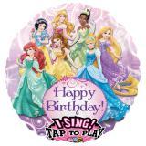 "Ballon en alu musical ""Jolies princesses"" 71 cm"