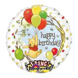 """Ballon aluminium XL musical """"Winnie l'ourson"""" 71 cm"""