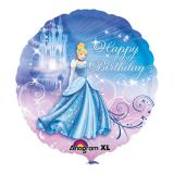 "Ballon en alu ""Cendrillon - Happy Birthday"" 43 cm"