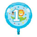 "Ballon en alu ""Jungle Boy 1er anniversaire"" 43,5 cm"
