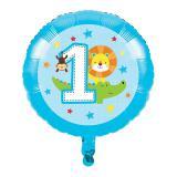 "Ballon en alu ""Jungle Boy 1er anniversaire"" 43,5 cm"