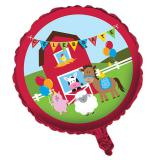 "Ballon en alu Happy Birthday ""Fête à la ferme"" 45 cm"