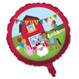 """Ballon en alu Happy Birthday """"Fête à la ferme"""" 45 cm"""