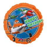 "Ballon en aluminium ""Happy Birthday Planes""  43 cm"