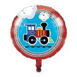 """Ballon en alu """"Petit train coloré"""" 43,5 cm"""