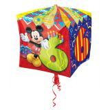 """Ballon en aluminium """"Anniversaire de Mickey Mouse"""" 38 cm - 6"""