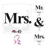"Ballon en aluminium ""Mr & Mrs"" 45 cm"
