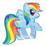 """Ballon en aluminium """"Rainbow Dash"""" 71 cm"""