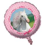 "Ballon en alu ""Cheval rose"" 45 cm"