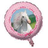 """Ballon en alu """"Cheval rose"""" 45 cm"""
