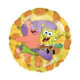 """Ballon en aluminium """"Bob l'éponge et Patrick"""" 43 cm"""