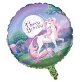 "Ballon en alu ""Belle licorne"" 45,7 cm"