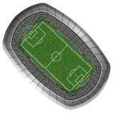 "8 assiettes ""Stade de foot"""